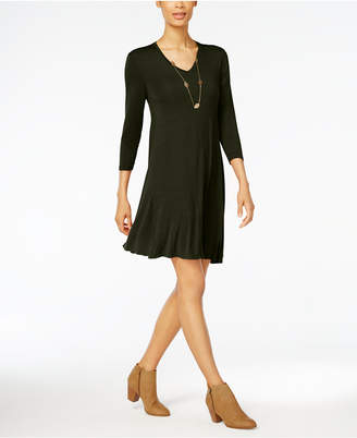 Style&Co. Style & Co V-Neck Swing Dress