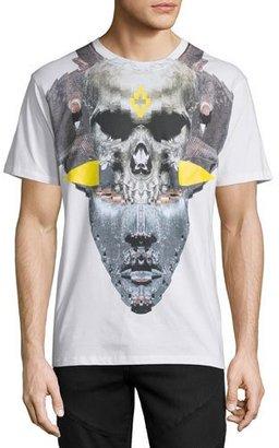 Marcelo Burlon Skull/Mask Graphic T-Shirt, White $255 thestylecure.com