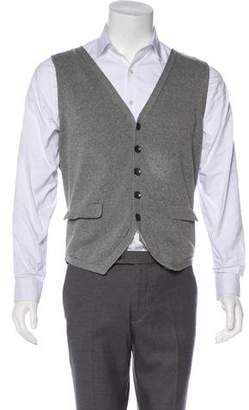 Rag & Bone Knit Button-Up Vest