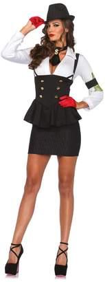 Leg Avenue Women's 3 Piece Machine Gun Molly Gangster Costume