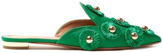 Aquazzura Sunflower embellished faille slipper shoes