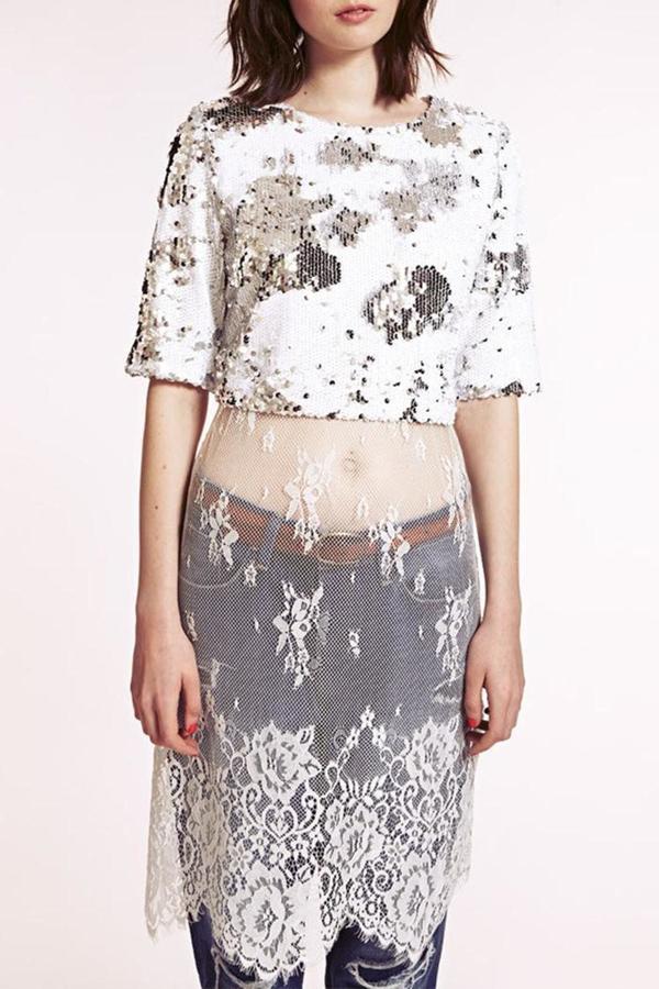 Dahlia Sequin Lace Dress