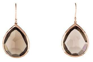 Ippolita Rosé Smoky Quartz Large Teardrop Earrings