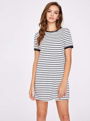 Shein Striped Ringer Tee Dress