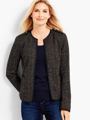 Talbots Sparkle Tweed Boucle Jacket