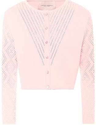 Carolina Herrera Cropped knitted cardigan