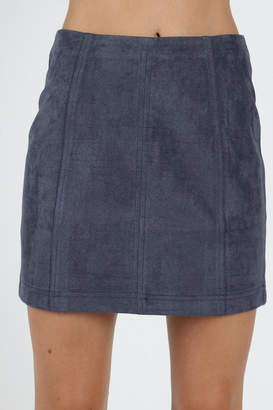 Pretty Little Things Suede Mini Skirt