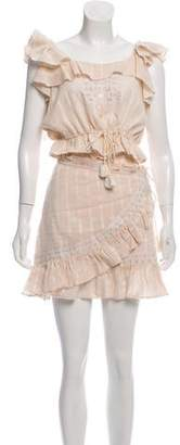 Love Sam Ruffle-Accented Embroidered Skirt Set