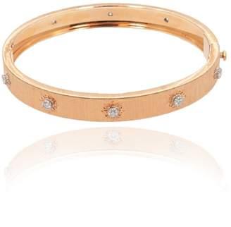 Buccellati 18K Rose Gold & Diamonds Bangle Bracelet