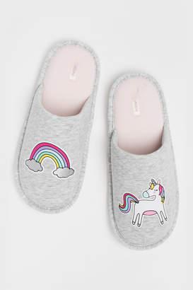 Ardene Unicorn Slippers