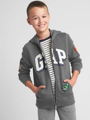 Gap GapKids   Looney Tunes logo zip hoodie
