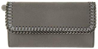 Stella McCartney Grey Falabella Flap Wallet