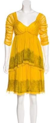 Alberta Ferretti Silk Layered Dress w/ Tags