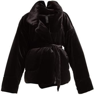 Norma Kamali Sleeping Bag quilted-velvet coat
