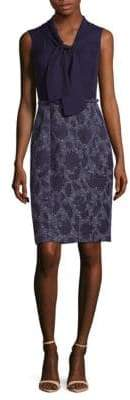 Oscar de la Renta Sleeveless Tie Neck Dress