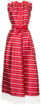 Alexis Mabille tulle hem striped gown