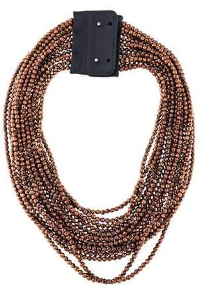 Brunello Cucinelli Multistrand Faceted Bead Collar Necklace