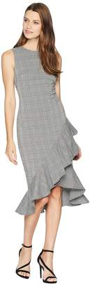 Calvin Klein Plaid Ruffle Hem Dress CD8E21QW Women's Dress