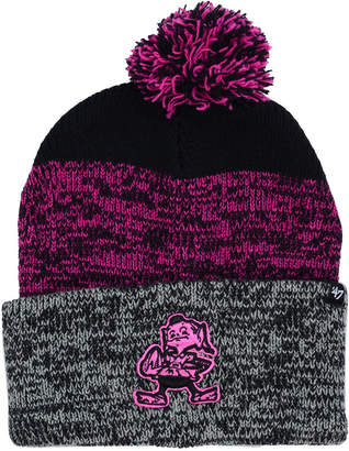 '47 Cleveland Browns Static Cuff Pom Knit Hat