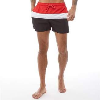 e111c21818 Fred & Boston Mens Colour Block Shorts Black/White/Red