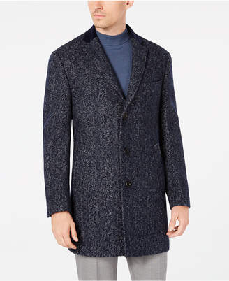 Tallia Men's Big & Tall Slim-Fit Herringbone Overcoat