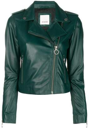 Pinko zipped leather jacket