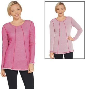 Denim & Co. Active Reversible Waffle Knit Tunic