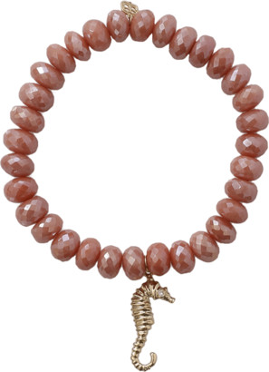 Sydney Evan Seahorse Silverite Beaded Bracelet