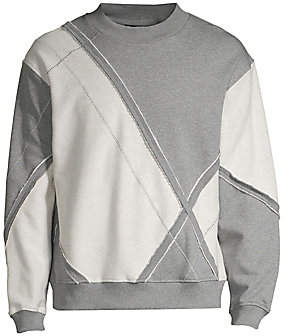 3.1 Phillip Lim Men's Argyle Patchwork Pullover