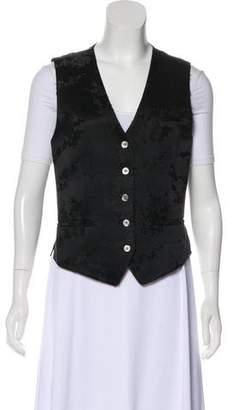 DKNY Pattern Floral Vest