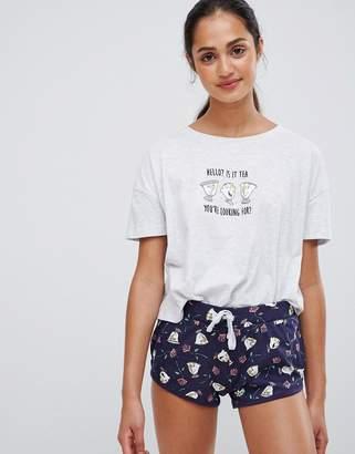New Look Disney pyjama set in navy