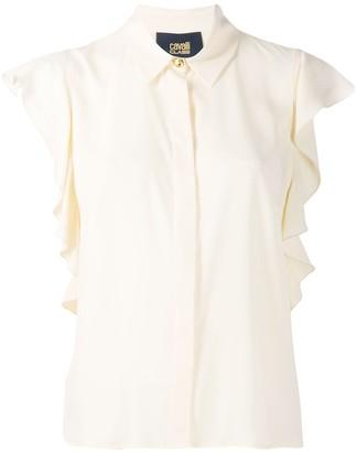 Class Roberto Cavalli ruffled sleeve blouse