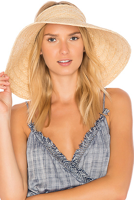 Hat Attack Roll Up Travel Visor in Tan. $78 thestylecure.com
