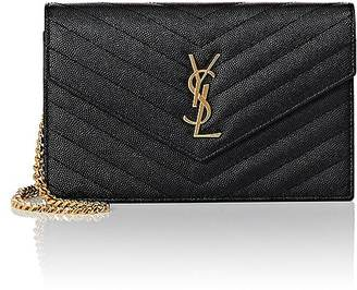Saint Laurent Women's Monogram Chain Wallet $1,275 thestylecure.com
