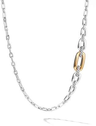 David Yurman Wellesley Link Long Necklace in Sterling Silver with 18K Yellow Gold, 36""