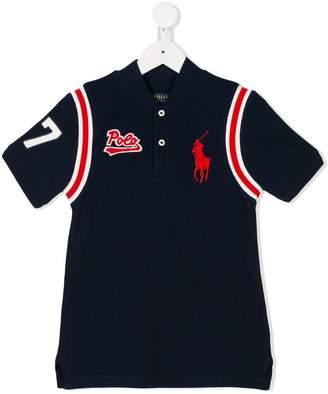 Ralph Lauren Kids logo embroidered baseball shirt