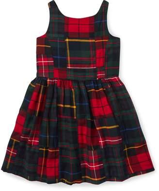 Ralph Lauren Tartan Patchwork Cotton Dress
