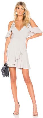 Bobi Draped Modal Jersey Cold Shoulder Dress