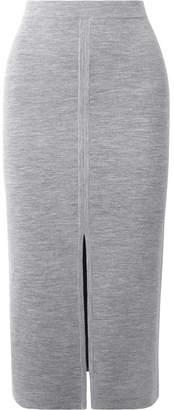 Gabriela Hearst - Hodgkins Reversible Wool-blend Midi Skirt - Gray