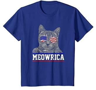 """""""Meowrica"""" Patriotic Cat in Sunglasses T-Shirt"""