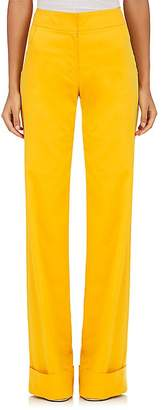 Derek Lam Women's Stretch-Cotton Faille Wide-Leg Trousers