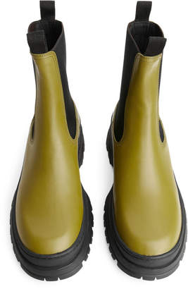 Arket Rugged-Sole Leather Boots