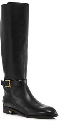 Tory Burch Women's Brooke Round Toe Leather Riding Boots