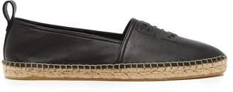 Givenchy Logo Leather Espadrilles - Mens - Black
