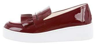Robert Clergerie Ruffle-Trimmed Platform Loafers w/ Tags
