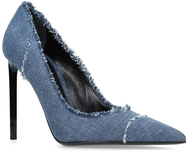 TOM FORD Pointed Denim Pumps 105, Blue, IT 41