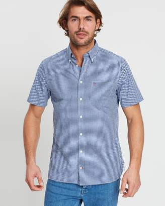 Tommy Hilfiger Custom Gingham Short Sleeve Shirt