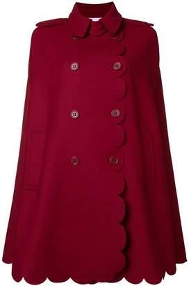 RED Valentino Armure scallop-detail cape