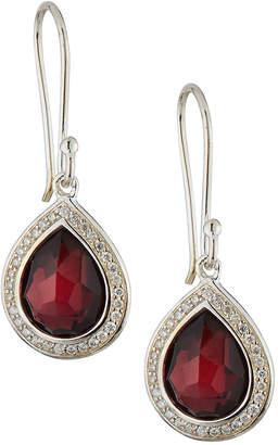 Ippolita Lollipop Mini Teardrop Earrings in Rhodolite Garnet w/ Diamonds