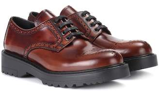 Prada Leather lace-up brogues